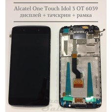 Alcatel One Touch Idol 3 OT6039 дисплейный модуль (тачскрин + дисплей + РАМКА)